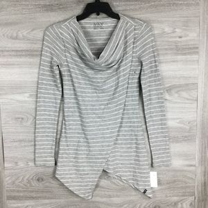 Marc New York Performance Striped Cowlneck Top